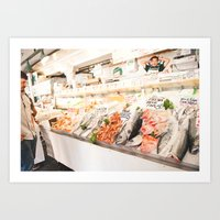 Fish Market Art Print