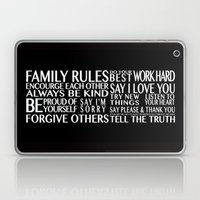 Family Rules Laptop & iPad Skin