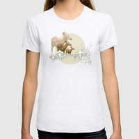 Deer, Creatures Womens Fitted Tee Ash Grey SMALL