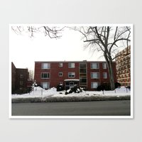 Mid-Twentieth Century Apartment in Hartford, CT Canvas Print