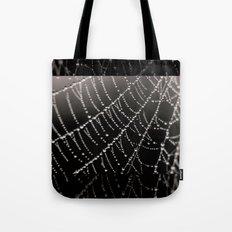 Architecture of a Spiderweb Closeup Tote Bag