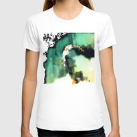the model Womens Fitted Tee White SMALL
