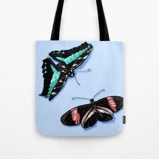 Papillon vert Tote Bag