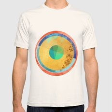 Half Quater Hue Mens Fitted Tee Natural SMALL