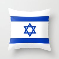 The National flag of the State of Israel Throw Pillow