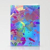 Blue Maze Stationery Cards