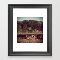 Ranch Firewood Framed Art Print