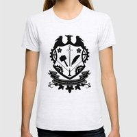 Steampunk Crest Womens Fitted Tee Ash Grey SMALL