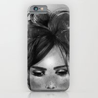 Sweet freckles girl face iPhone 6 Slim Case