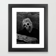 Portrait of a Zombie Framed Art Print
