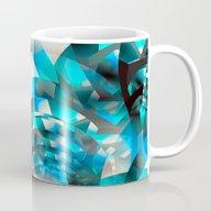 Fractal Waves (turquoise… Mug