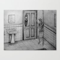 The Skeletal Shining Canvas Print