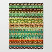 Inspired Aztec Pattern 3 Canvas Print