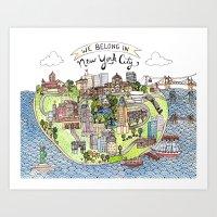 New York City Love Art Print