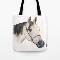 Grey Arabian Horse Tote Bag