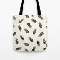 Watercolor Pineapples Bl… Tote Bag