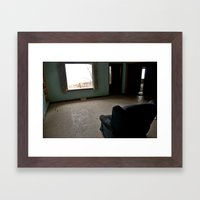 Abandoned Teal Nunnery Chair Framed Art Print