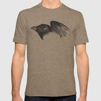 Crow Mens Fitted Tee Tri-Coffee SMALL