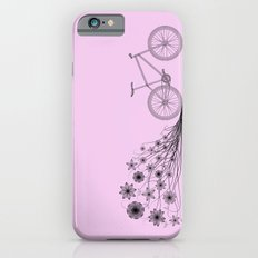 Cycling with flowers iPhone 6s Slim Case