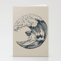 Summer and The Pug  Stationery Cards