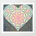 Grunge at Heart Art Print