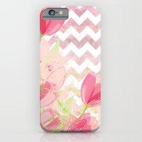 Chevron Tulips iPhone 6 Slim Case