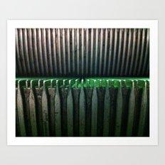 Escalator Art Print