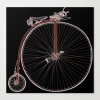 Blue Penny Farthing Canvas Print