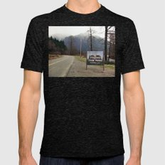 Welcome to Twin Peaks Mens Fitted Tee Tri-Black SMALL