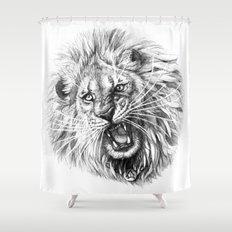 Lion roar G141 Shower Curtain