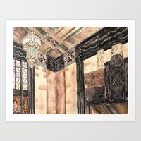 Inside The Art Deco Spac… Art Print