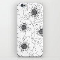 White Anemones iPhone & iPod Skin
