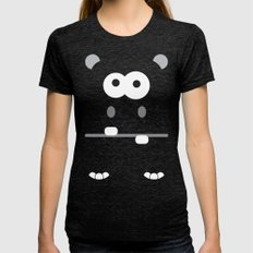Minimal Hippo Womens Fitted Tee Tri-Black SMALL
