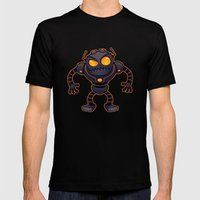 Angry Robot Mens Fitted Tee Black SMALL