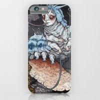 iPhone Cases featuring Absolem the Blue Caterpillar art print by Caitlin Hackett