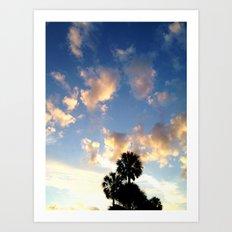 Palm Trees, Ocean Breeze Art Print