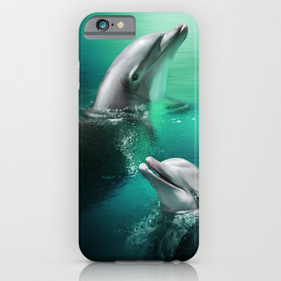Dancing Dolphins iPhone & iPod Case
