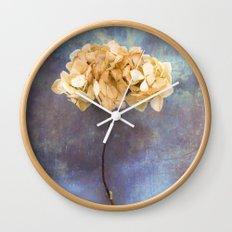 Dried Hydrangea I Wall Clock