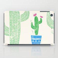 Linocut Cacti #2 in a pot iPad Case