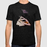 Dark Water Mens Fitted Tee Tri-Black SMALL
