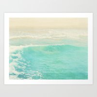 Beach Ocean Wave. Surge.… Art Print