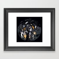 Meowlin Temple Framed Art Print