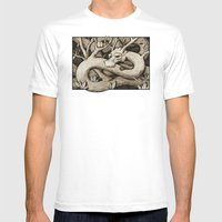 Tree Dragon Mens Fitted Tee White SMALL