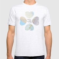 Go With All Your Heart Mens Fitted Tee Ash Grey SMALL