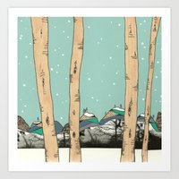 Behind the Forest Art Print