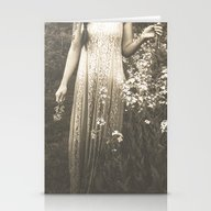 Flower Child 2 Black And… Stationery Cards