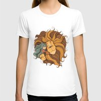 lion T-shirts featuring Lion by Tatiana Obukhovich