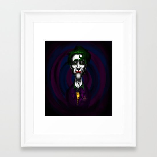 Sad Joker Framed Art Print