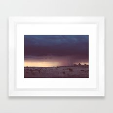 Marfa Thunderstorm Framed Art Print