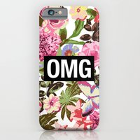 iPhone Cases featuring OMG by Text Guy